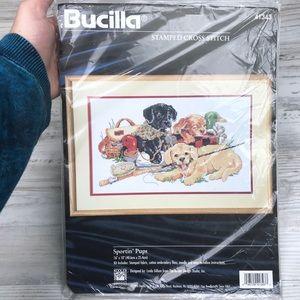 Vintage '96 Buscilla Sportin' Pups Embroidery Kit